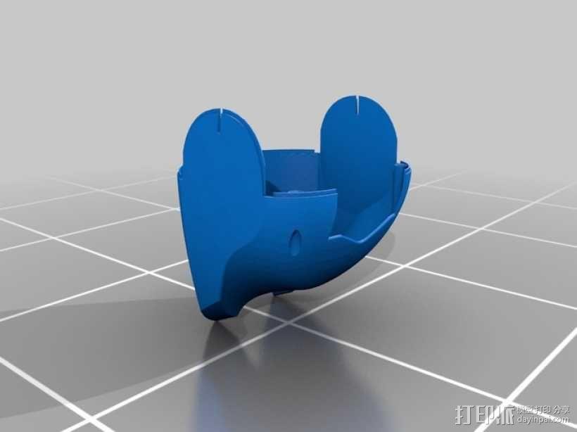 DArwln-OP机器人的支架及组件 3D模型  图5
