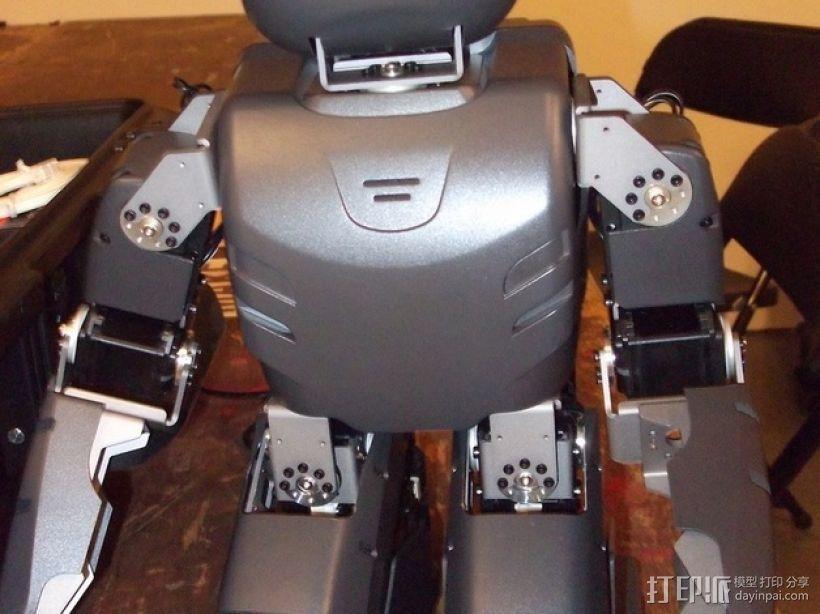 DArwln-OP机器人的支架及组件 3D模型  图9