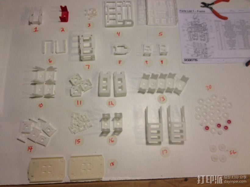 DArwln-OP机器人的支架及组件 3D模型  图41