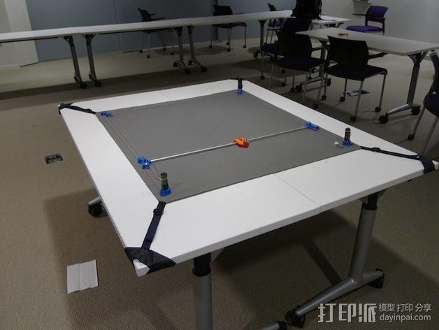 桌布上的机器人 3D模型  图2