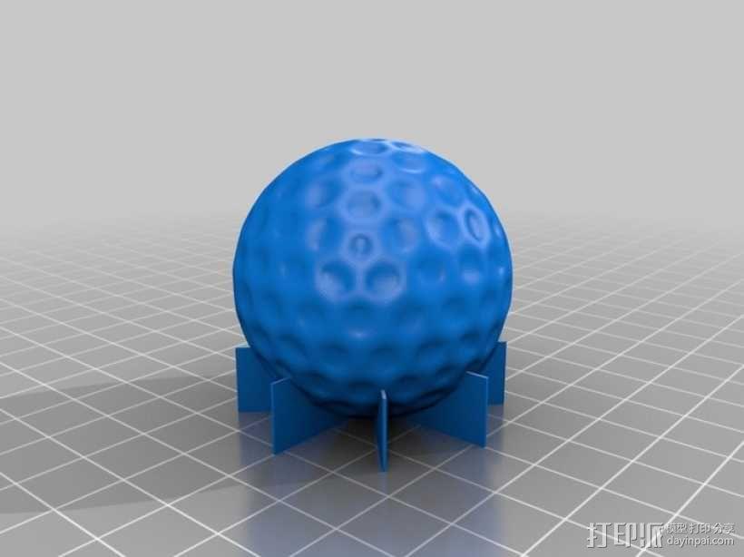 高尔夫球 3D模型  图1
