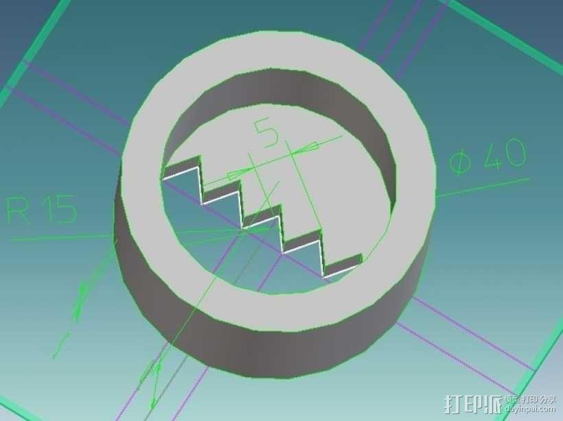 图片连接器 3D模型  图2