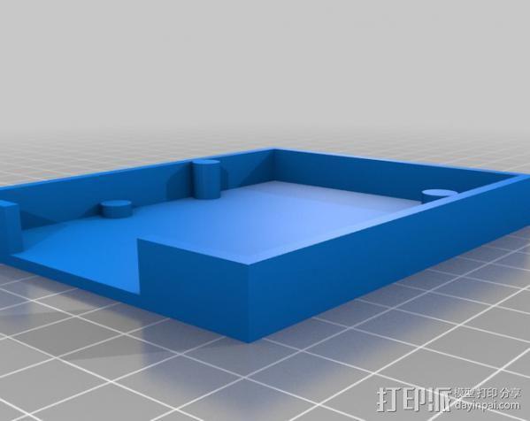 七弦琴——可移动音频播放器和录音器外壳 3D模型  图2