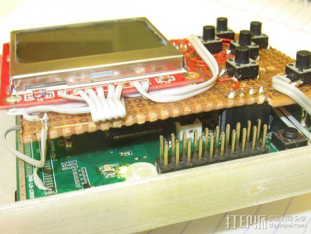 七弦琴——可移动音频播放器和录音器外壳 3D模型  图4