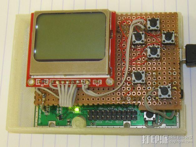 七弦琴——可移动音频播放器和录音器外壳 3D模型  图3