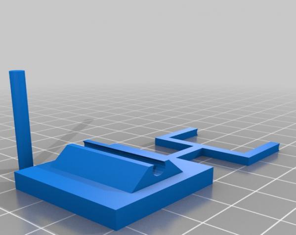 迷你桌上杠杆开关 3D模型  图2