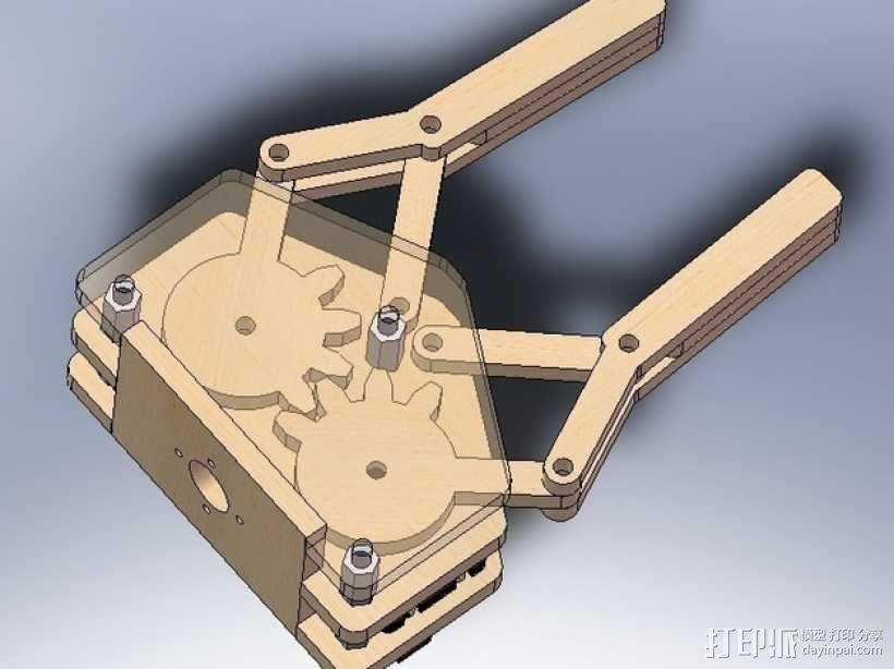 标准伺服夹 3D模型  图2