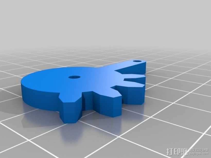 标准伺服夹 3D模型  图4