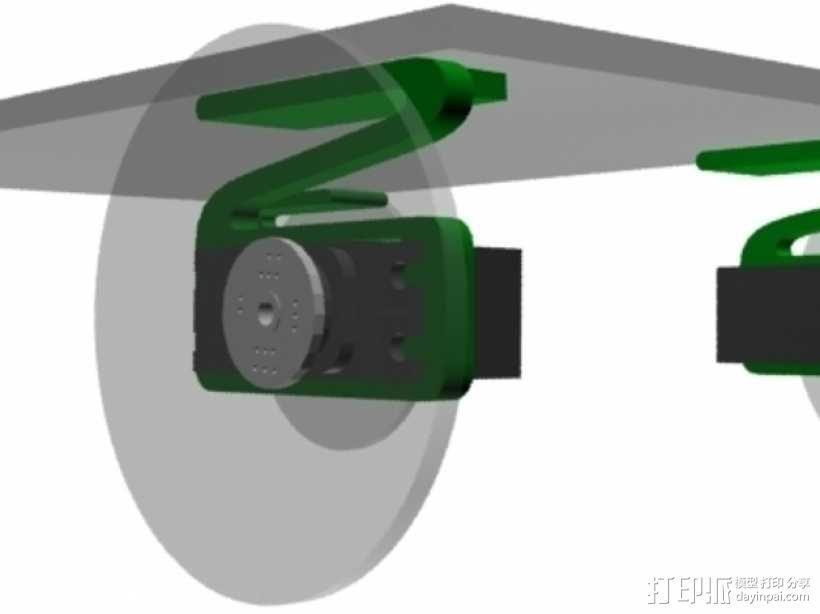 伺服悬浮系统 3D模型  图1