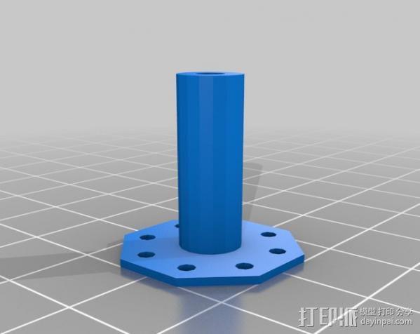 电磁铁半杆 3D模型  图1