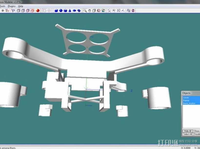 XL-RCM 10.0 PIXXY:袖珍无人机/FPV 飞行器 3D模型  图18