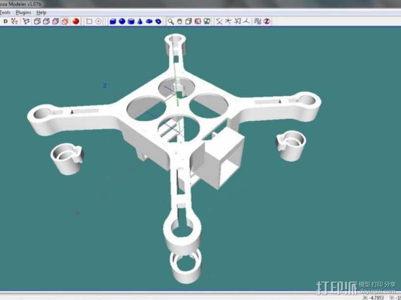 XL-RCM 10.0 PIXXY:袖珍无人机/FPV 飞行器 3D模型  图17