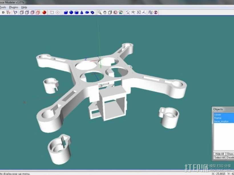 XL-RCM 10.0 PIXXY:袖珍无人机/FPV 飞行器 3D模型  图21