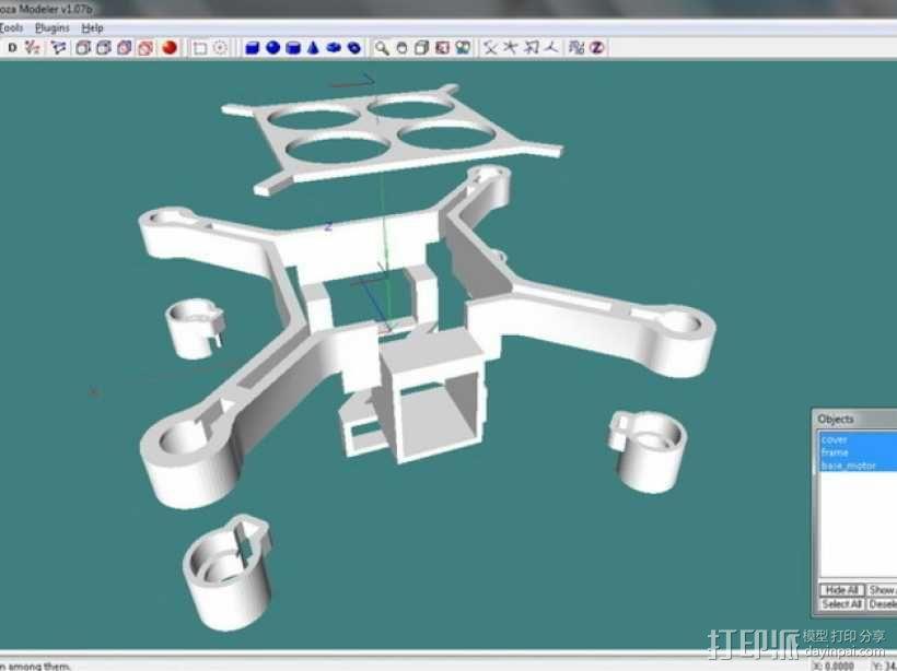 XL-RCM 10.0 PIXXY:袖珍无人机/FPV 飞行器 3D模型  图43