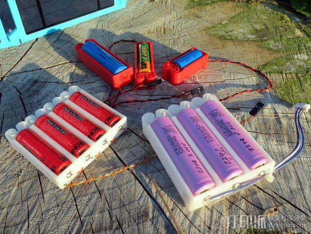 集成弹簧的曲型电池盒 3D模型  图3