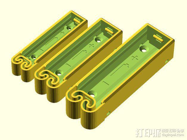 集成弹簧的曲型电池盒 3D模型  图15