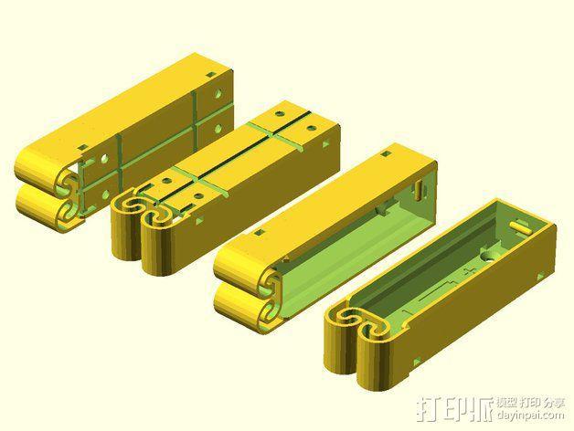 集成弹簧的曲型电池盒 3D模型  图16