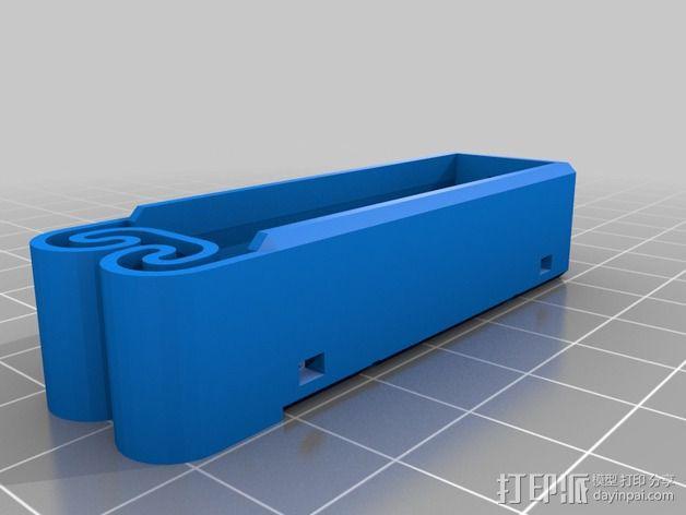 集成弹簧的曲型电池盒 3D模型  图17