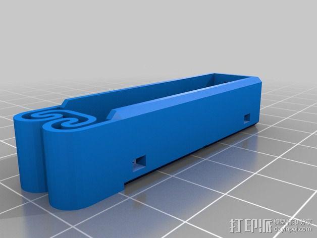 集成弹簧的曲型电池盒 3D模型  图19