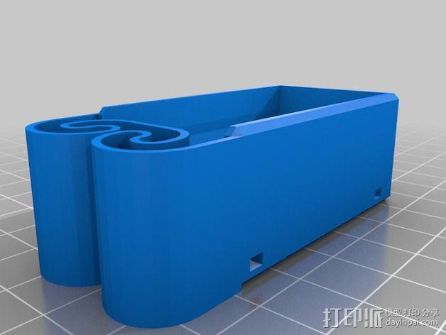 集成弹簧的曲型电池盒 3D模型  图22