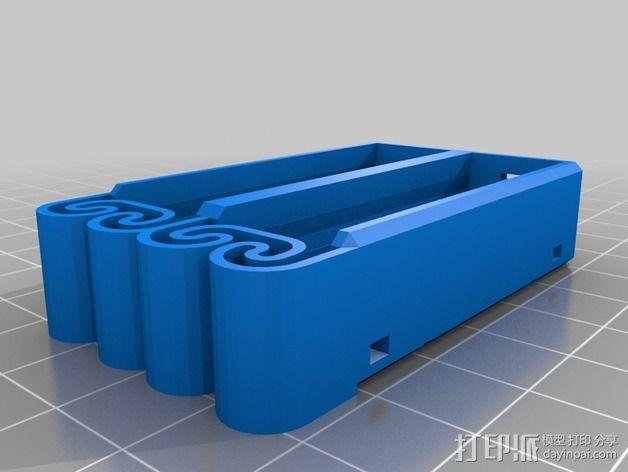 集成弹簧的曲型电池盒 3D模型  图23