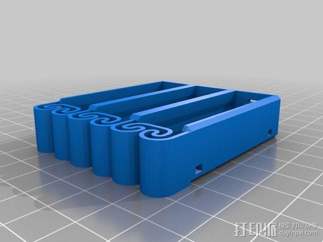 集成弹簧的曲型电池盒 3D模型  图26