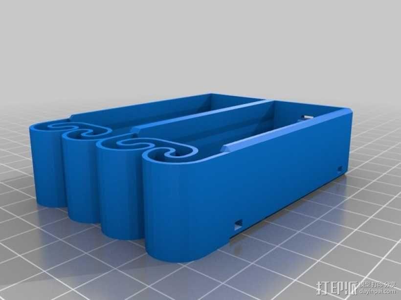 集成弹簧的曲型电池盒 3D模型  图30