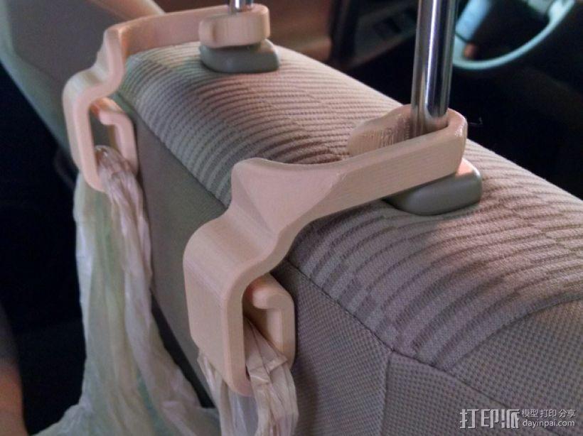 车后座垃圾袋悬挂钩 3D模型  图1