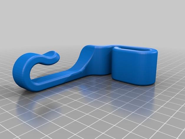 车后座垃圾袋悬挂钩 3D模型  图3
