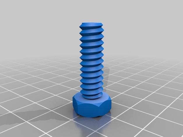 螺母,螺丝,螺杆 3D模型  图2