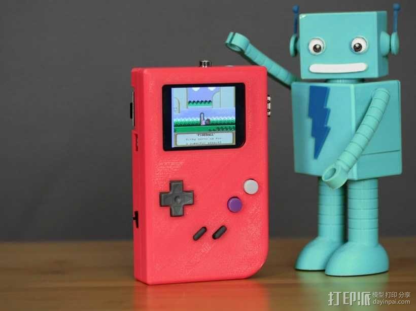 DIY树莓派游戏机 3D模型  图1