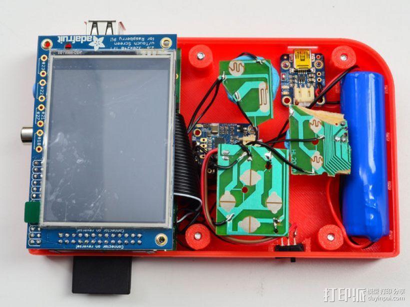 DIY树莓派游戏机 3D模型  图5