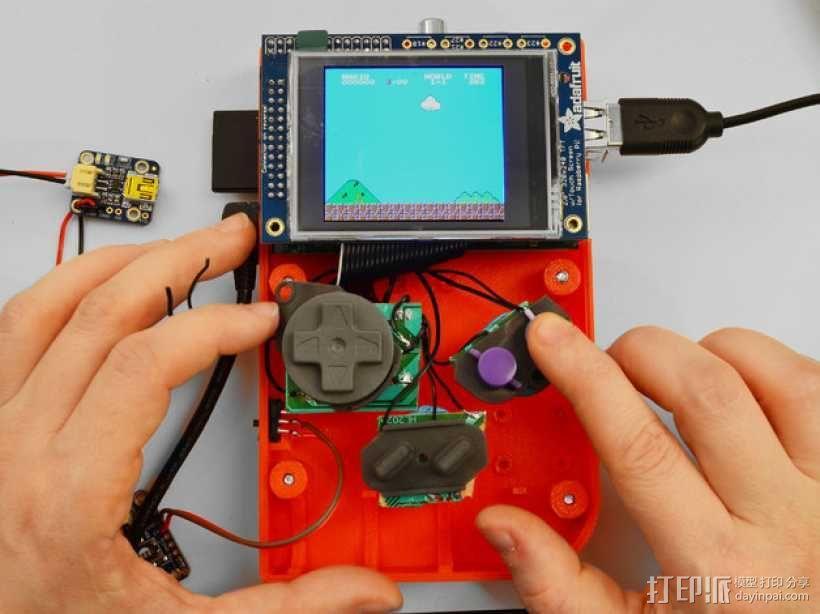 DIY树莓派游戏机 3D模型  图8