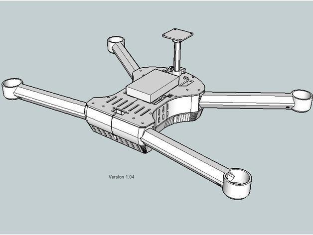 T4 四轴飞行器 3D模型  图11