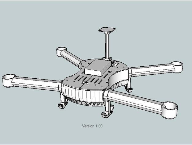 T4 四轴飞行器 3D模型  图14