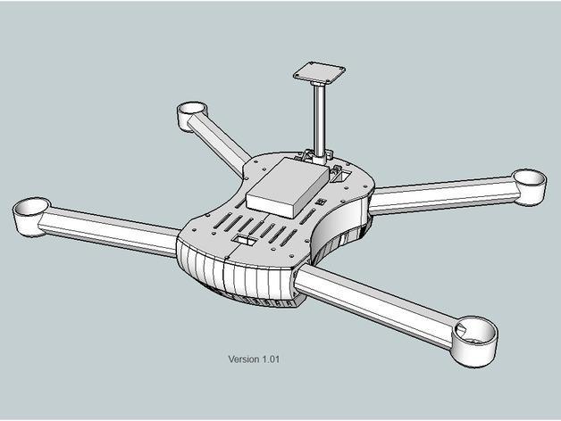 T4 四轴飞行器 3D模型  图13