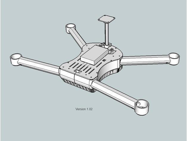 T4 四轴飞行器 3D模型  图12