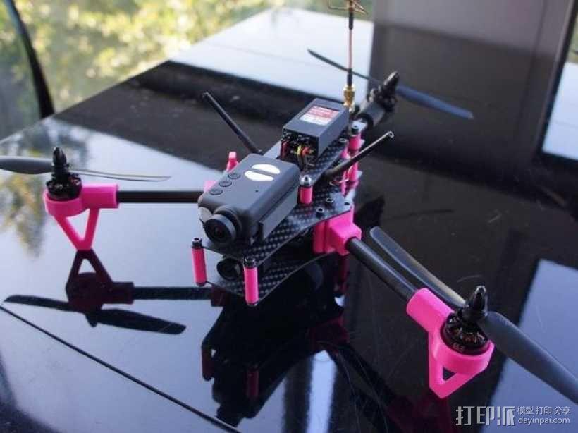 Brocopter Y3:可折叠迷你三轴飞行器 3D模型  图1