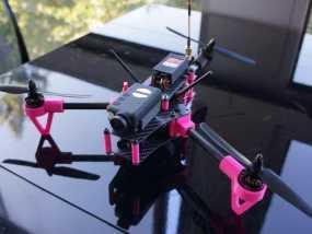 Brocopter Y3:可折叠迷你三轴飞行器 3D模型