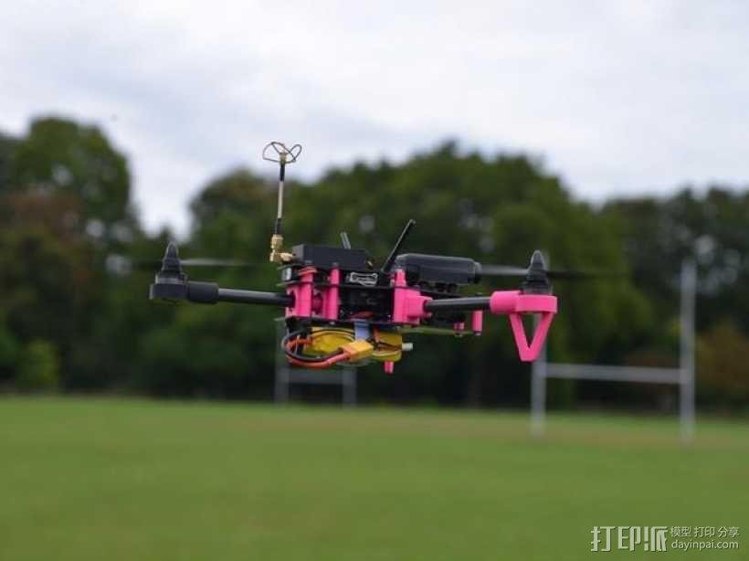 Brocopter Y3:可折叠迷你三轴飞行器 3D模型  图2