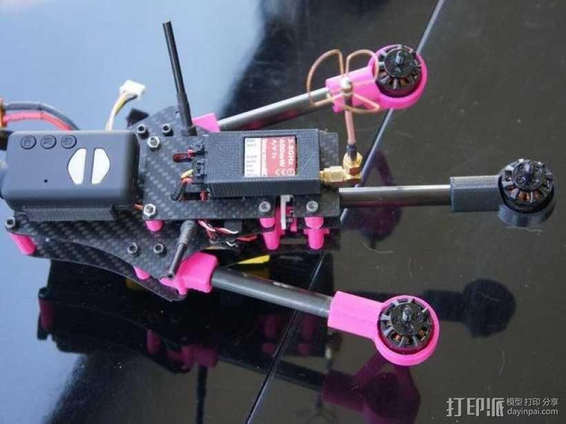 Brocopter Y3:可折叠迷你三轴飞行器 3D模型  图3