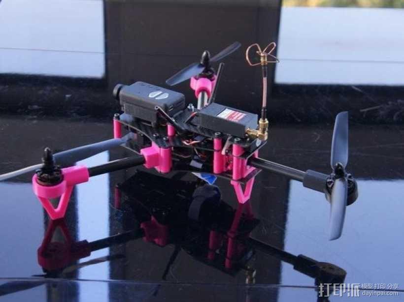 Brocopter Y3:可折叠迷你三轴飞行器 3D模型  图4