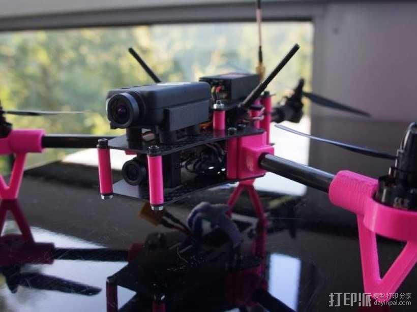 Brocopter Y3:可折叠迷你三轴飞行器 3D模型  图5