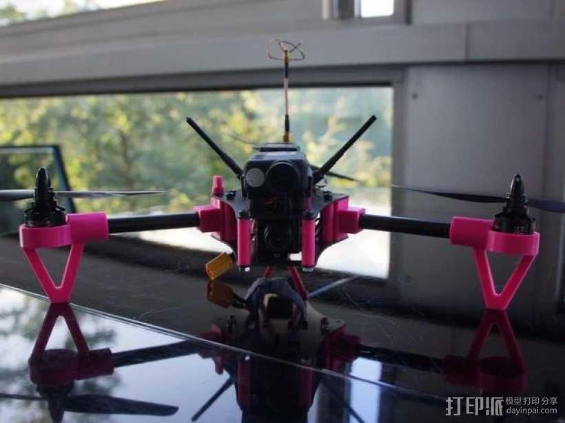 Brocopter Y3:可折叠迷你三轴飞行器 3D模型  图6