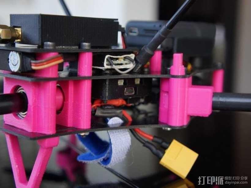 Brocopter Y3:可折叠迷你三轴飞行器 3D模型  图7