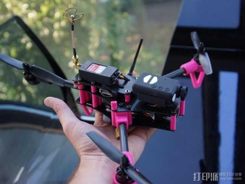 Brocopter Y3:可折叠迷你三轴飞行器 3D模型  图13