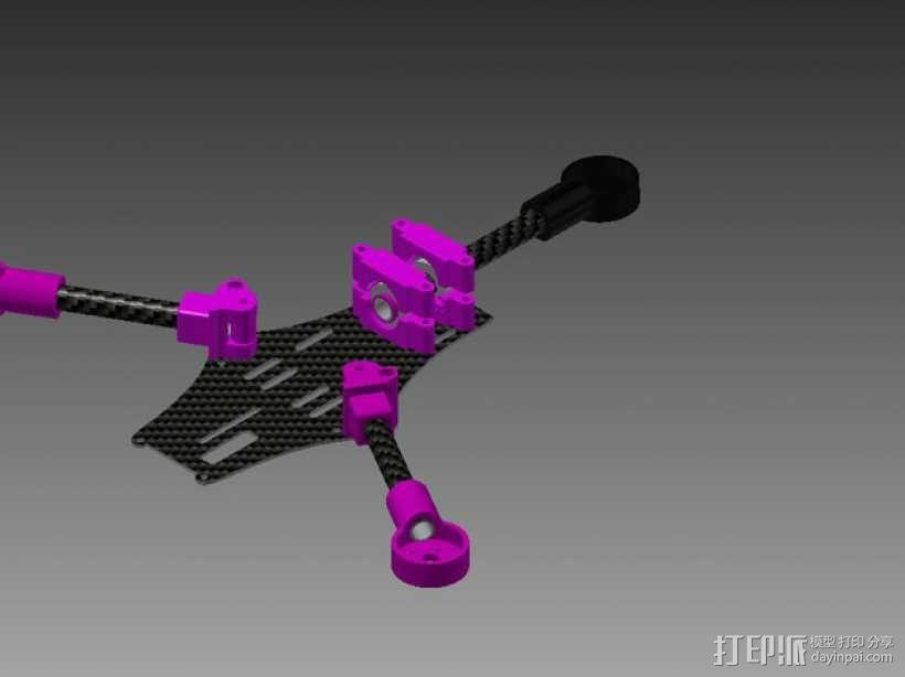 Brocopter Y3:可折叠迷你三轴飞行器 3D模型  图20