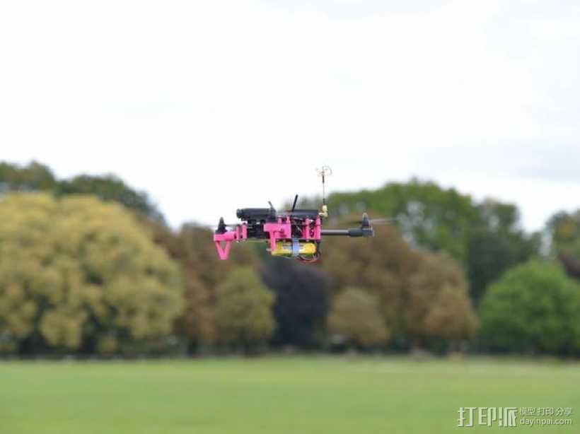 Brocopter Y3:可折叠迷你三轴飞行器 3D模型  图19