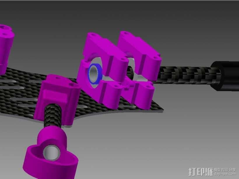 Brocopter Y3:可折叠迷你三轴飞行器 3D模型  图22