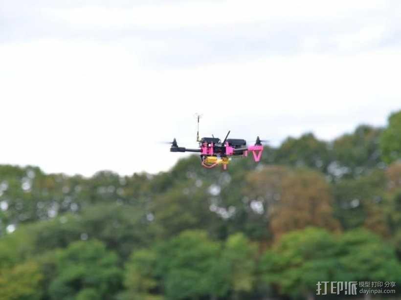 Brocopter Y3:可折叠迷你三轴飞行器 3D模型  图16